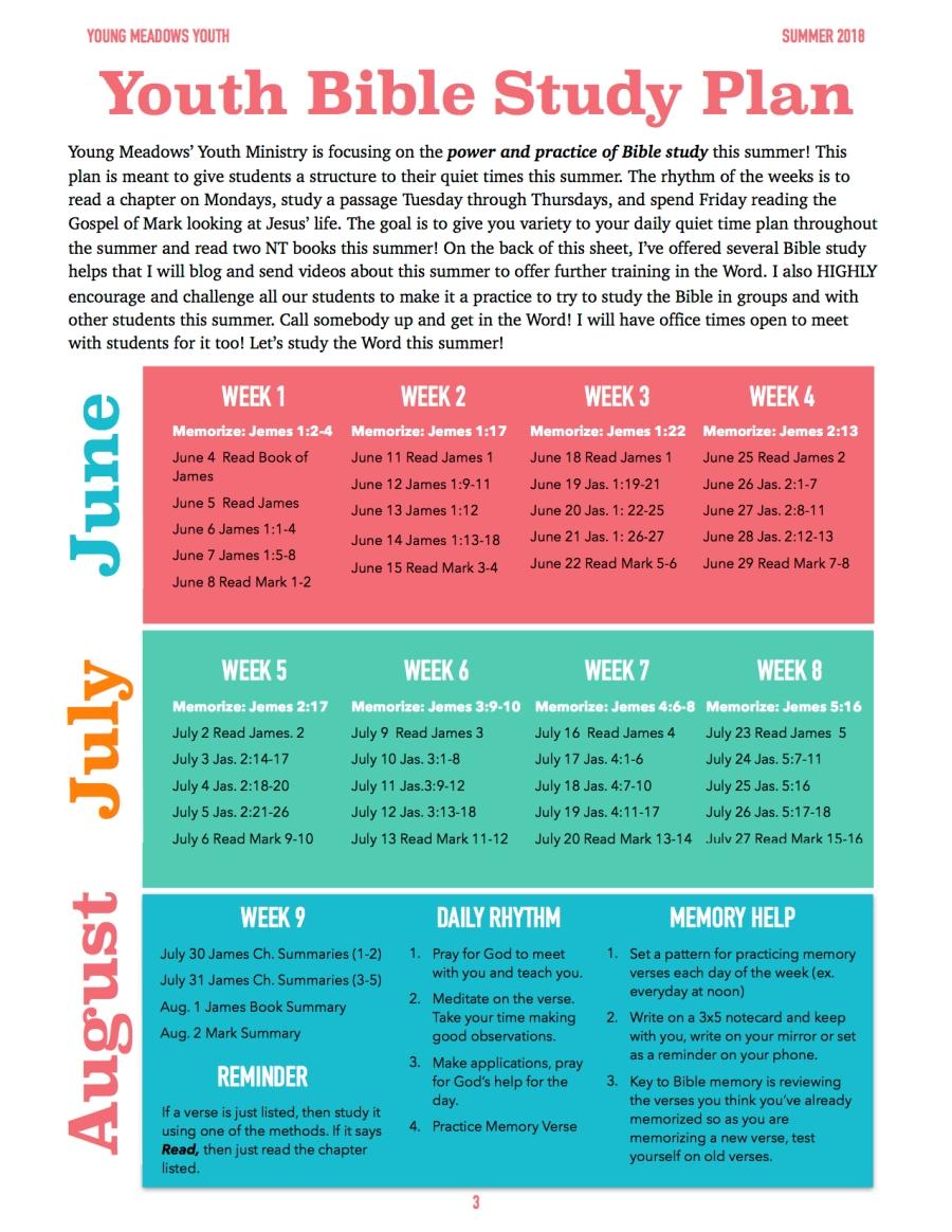 Summer 18 Bible Study